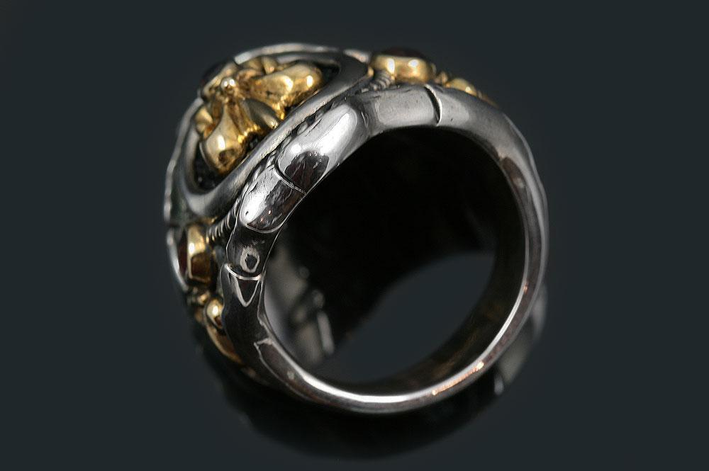 Giani Inspirations Allegra Fleur De Lis Stingray Skin Red Ruby Silver Ring Mr 146