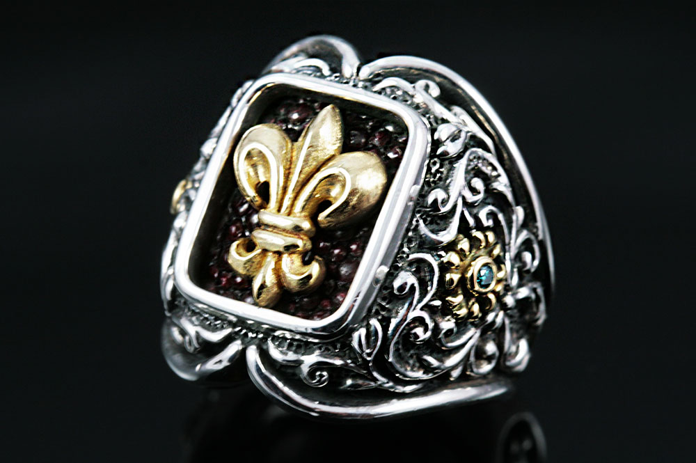Giani Inspirations Ludovic Baroque Style Silver Ring Mr 024