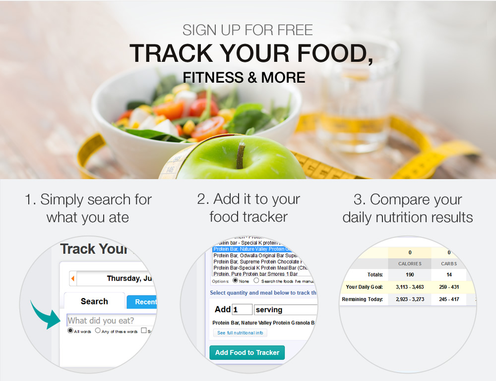 Sign up for a free Nutrition Tracker SparkPeople - nutrition tracker
