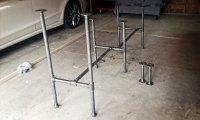 DIY Adjustable Standing Desk from Steel Pipe & Ikea Countertop