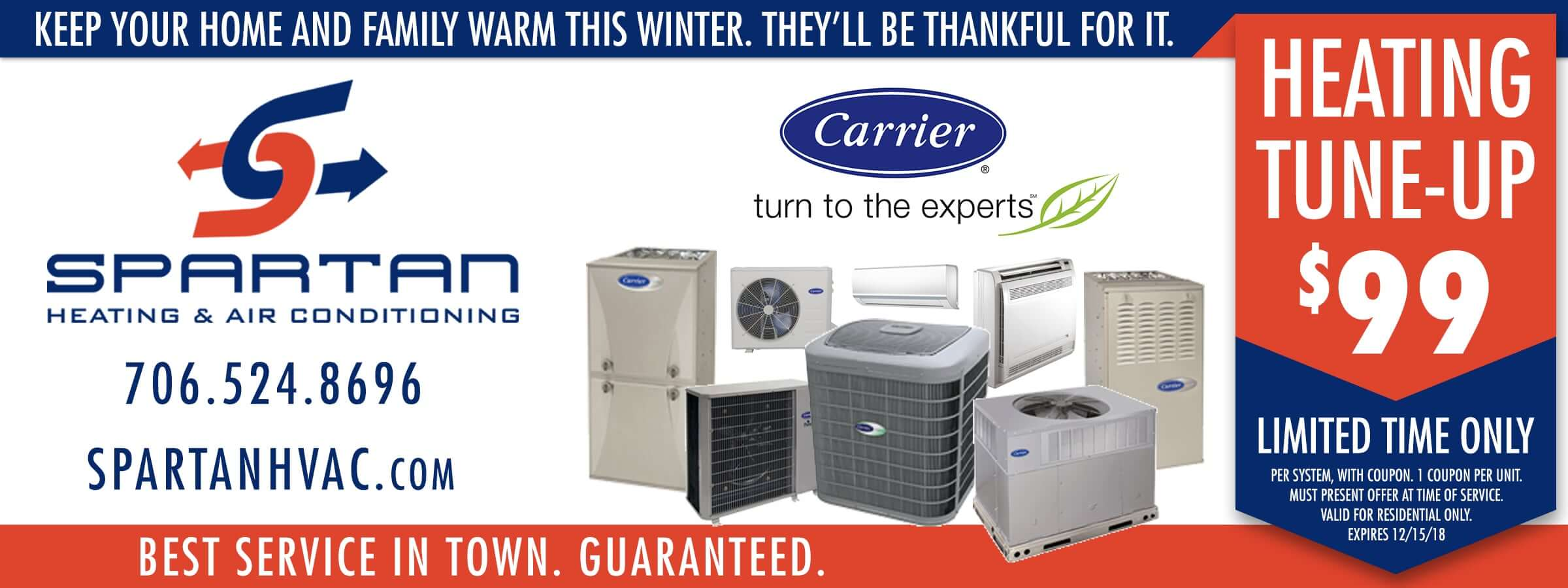 Spartan HVAC coupon 2018