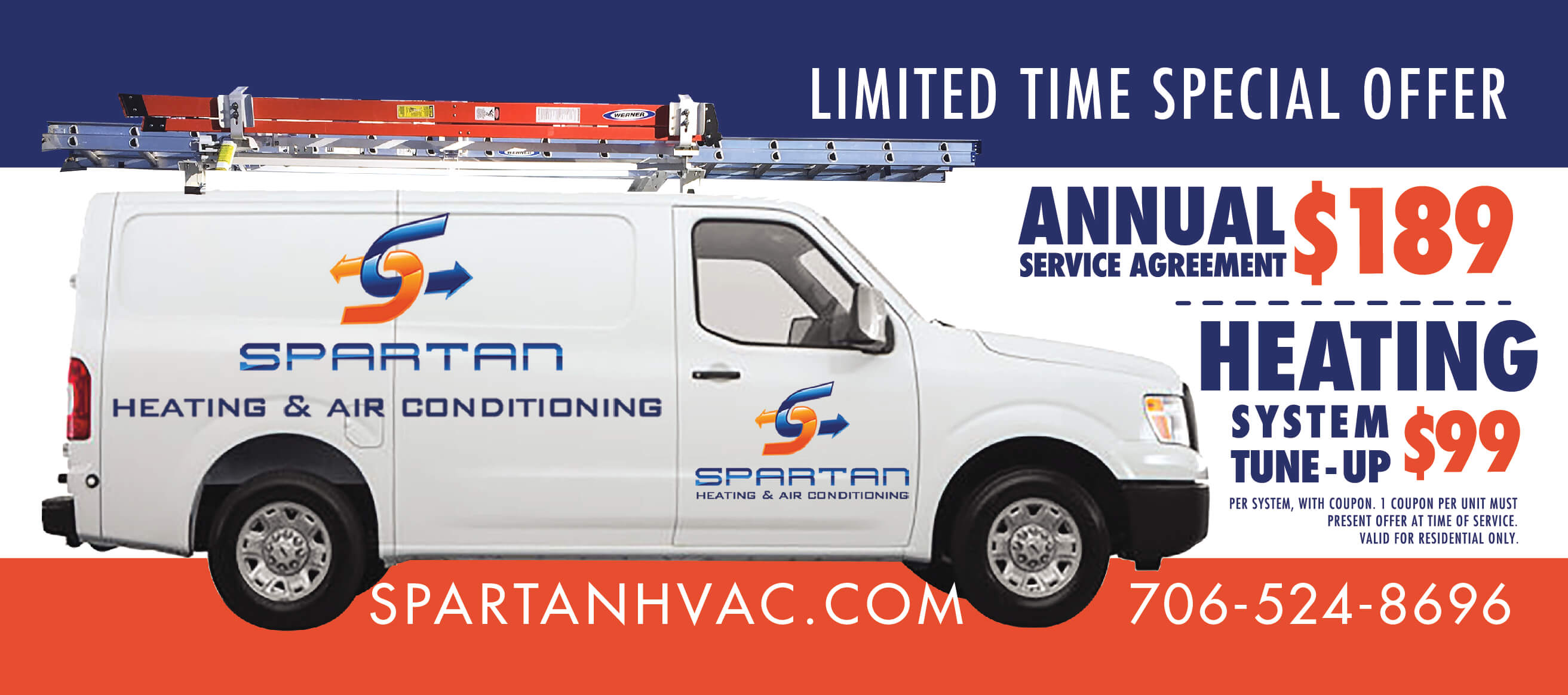 Spartan HVAC heating coupon 2018