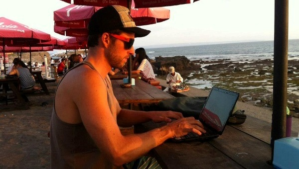 Working in Canggu, Bali