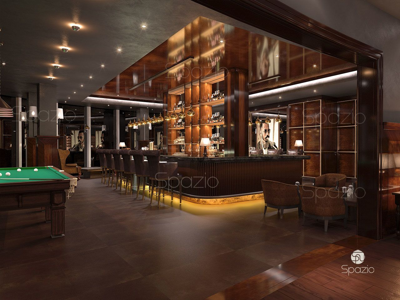 Hotel Decoration Design Bar Design In Dubai Hotel Spazio Interior Decoration Llc