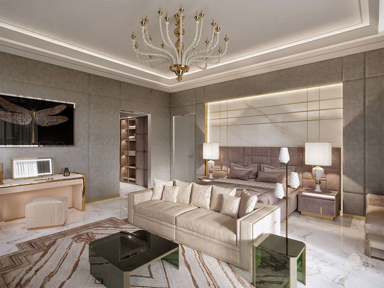 Design A Bedroom Luxury Master Bedroom Interior Design In Dubai 2019 Spazio