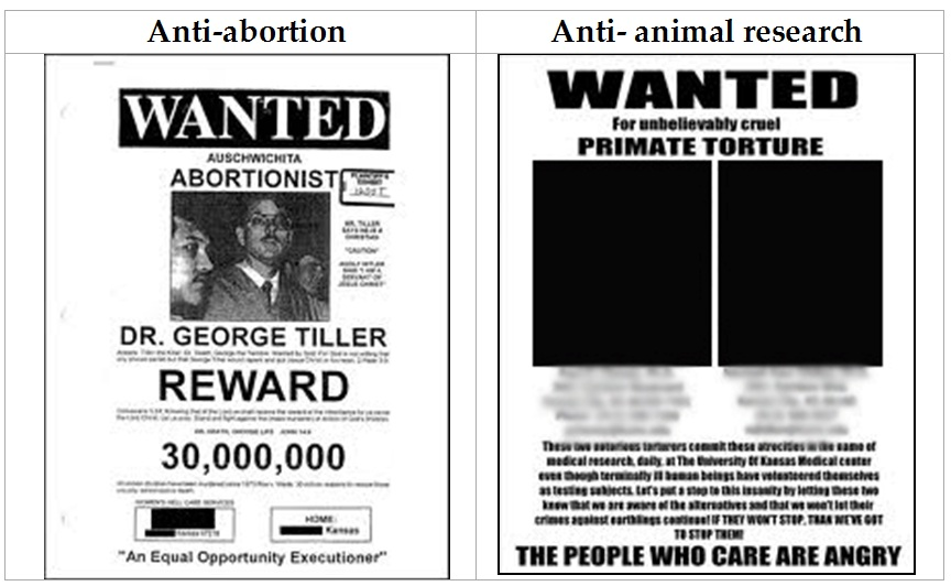 We must reject extremism \u2013 Speaking of Research - examples of wanted posters