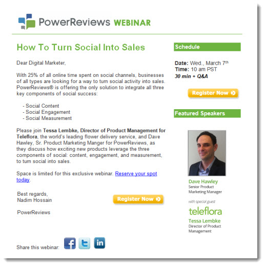Webinar Invitations Sell the Event, Not the Product - The Point