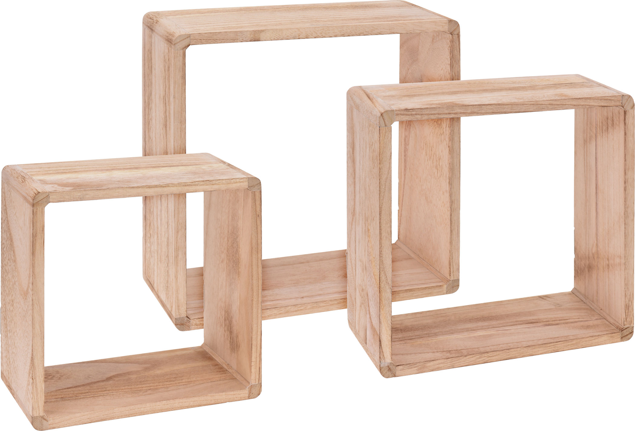 Wandregal Würfel Würfel Wandregal 3er Set Aus Holz 30 27 24 Cm Cube