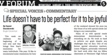 Life doesn't have to be perfect for it to be joyful (Column in the Bugle newspapers)