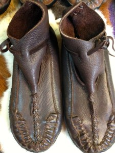 Mountain Mike's moccasins. Photo: Julie Pendray.