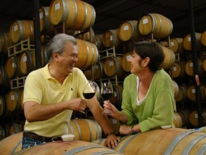 Chris and Melody Johnston, owners of Middle Ridge Winery. Photo courtesy of the Johnstons.