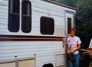 Me with our Toyota New Horizon mini motor home, 1989.