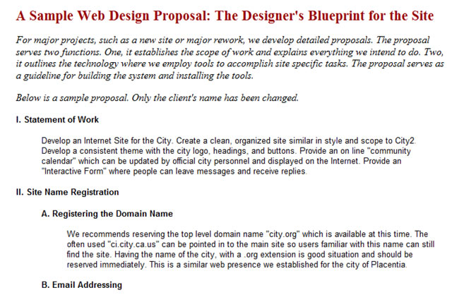 Useful Web Design Proposal Resources, Tools and Apps - website proposal sample