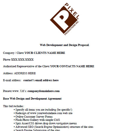 Useful Web Design Proposal Resources, Tools and Apps - proposal contract template