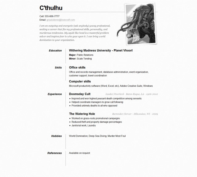 10 Free Professional HTML  CSS CV/Resume Templates - Resume With Photo Template