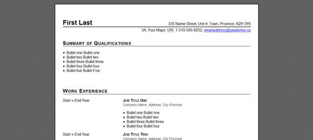 html css sample resume