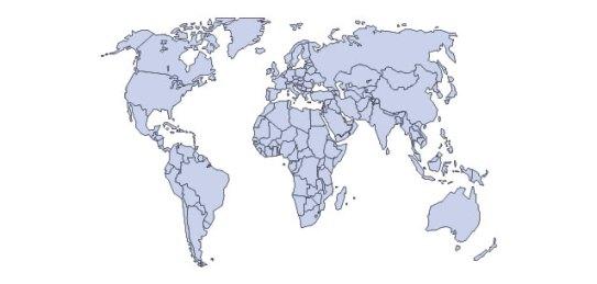 World Map Illustrator File (.ai format)