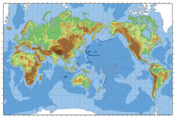 Blank map of the Colorful World map