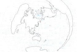 """Blank map of the World map """"Tokyo/Japan centered"""""""