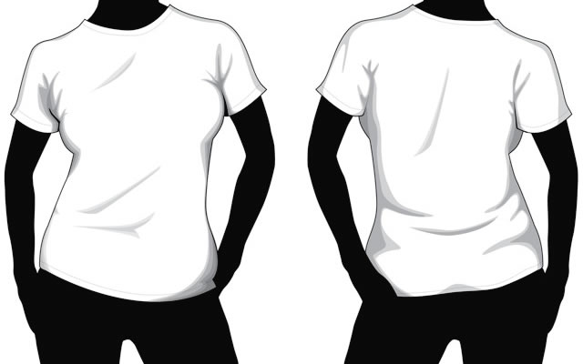 Collection of Blank T-Shirt Mockup Templates - t shirt template
