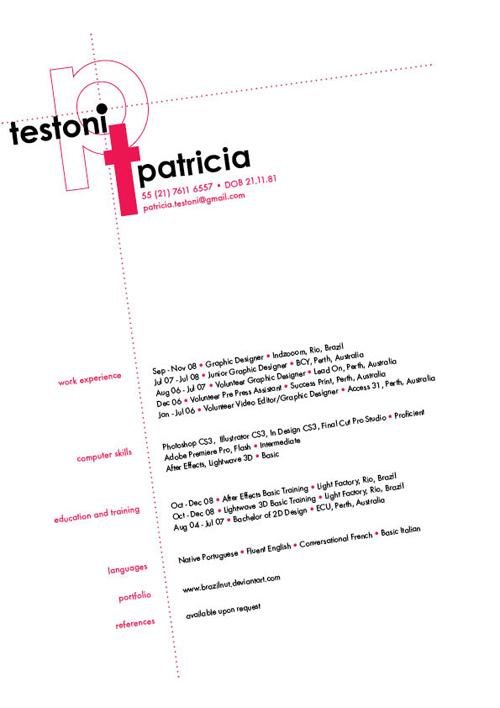 The 40 Most Creative Resume Designs Ever - resumes for graphic designers