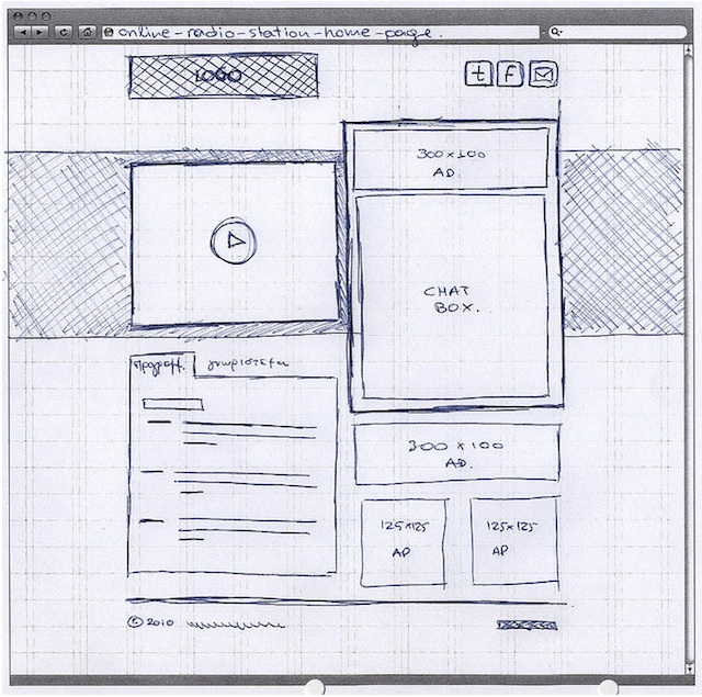 20 Examples of Web and Mobile Wireframe Sketches - project design template