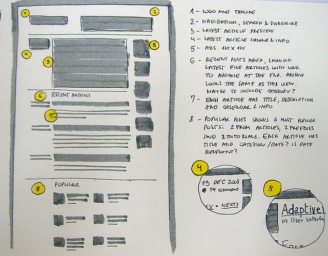 20 Examples of Web and Mobile Wireframe Sketches - phone list template excel