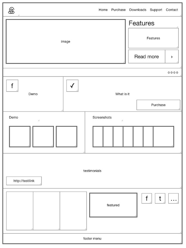 20 Examples of Web and Mobile Wireframe Sketches - pattern block template