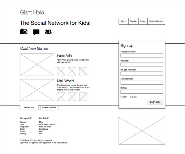 20 Examples of Web and Mobile Wireframe Sketches - contact details template