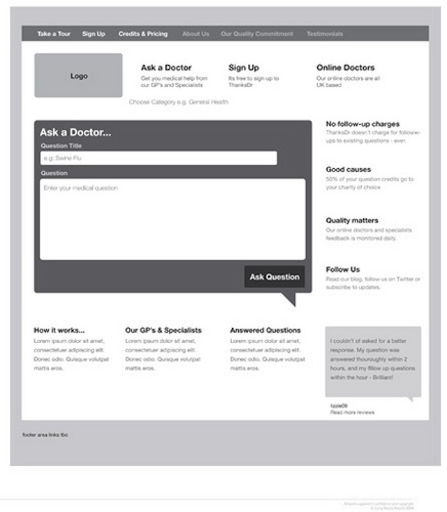 20 Examples of Web and Mobile Wireframe Sketches - great objective for resume