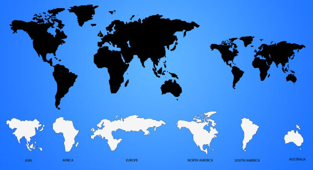 30 High-Quality Free World Map Templates - Map Template
