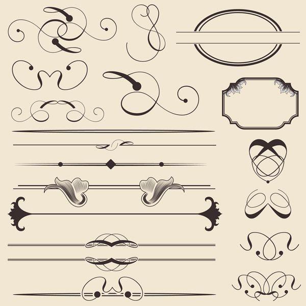 30 Free Ornaments, Frames  Borders Vector Resources