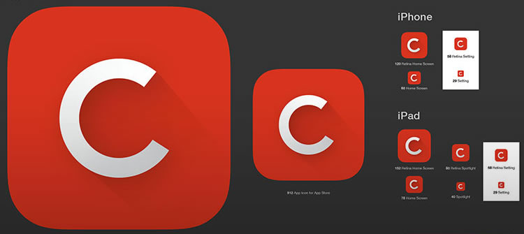 Free iOS 7 GUI Kits and Templates - iphone app icon template