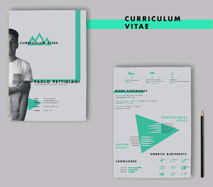 cv simple indesign template