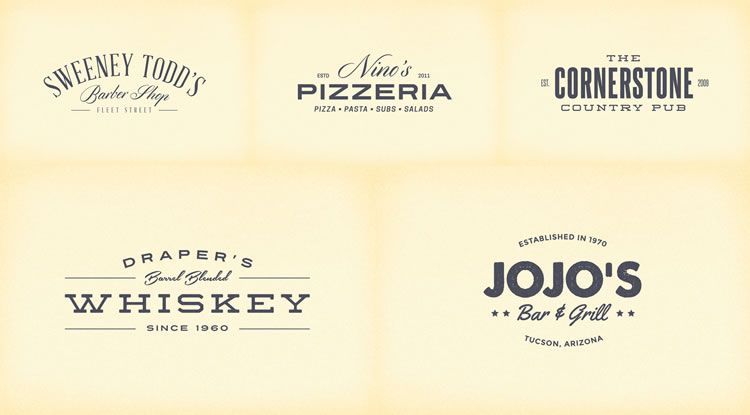 15 Free Vintage Logo  Badge Template Collections - text logo template