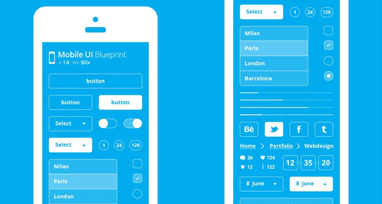 50 Free Wireframe Templates for Mobile, Web and UX Design - Free App Template