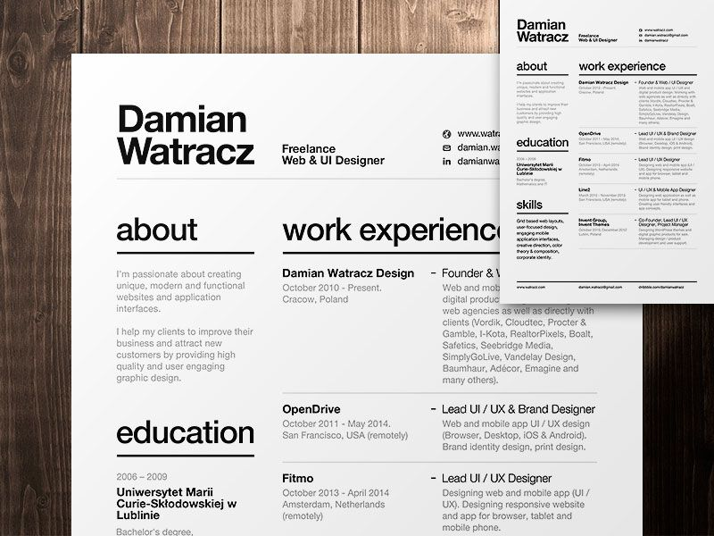 Good Resume Fonts The Essential Elements Of Creative Resume Design