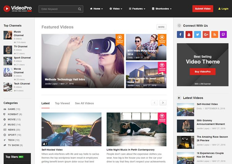 10 Best WordPress Video Themes for 2016