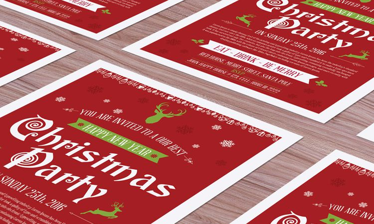 50 Free Christmas Templates  Resources for Designers - christmas template free