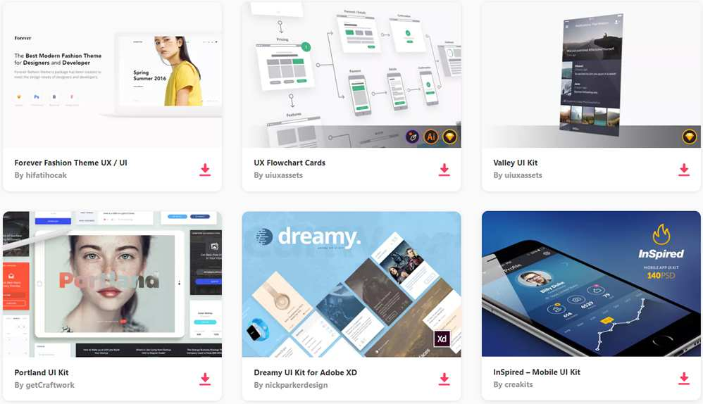 Top 50 Free Mobile UI Kits for iOS  Android for 2019