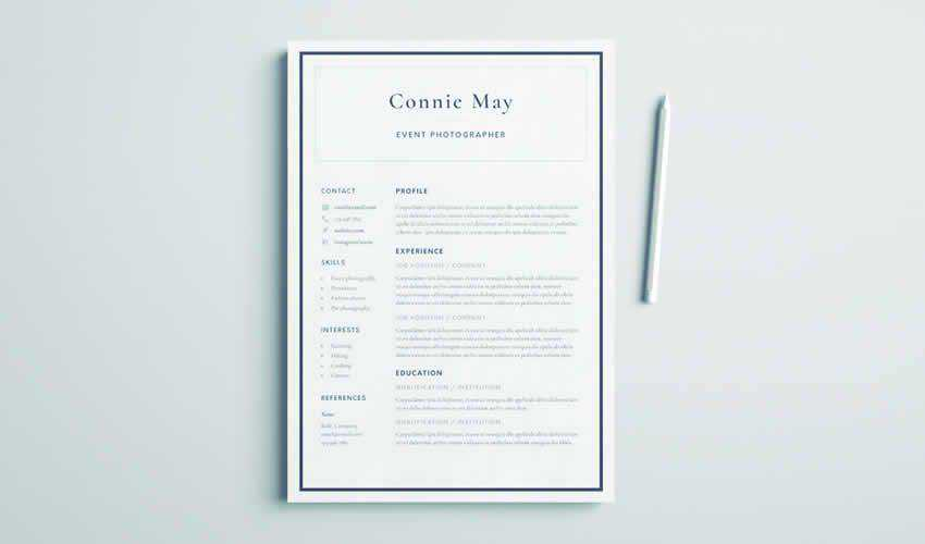 10 Free Professional Adobe InDesign Resume Templates