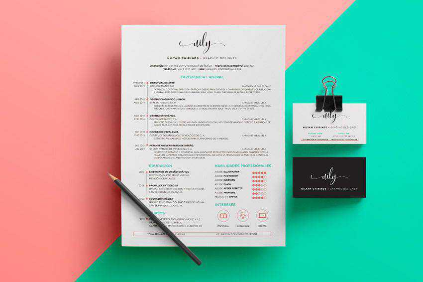 business cv design