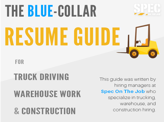 Resume Guide - Spec On The Job - Resume Guide