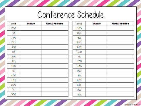 Parent Sign In Sheet Template  Conference Sign In Sheet Template