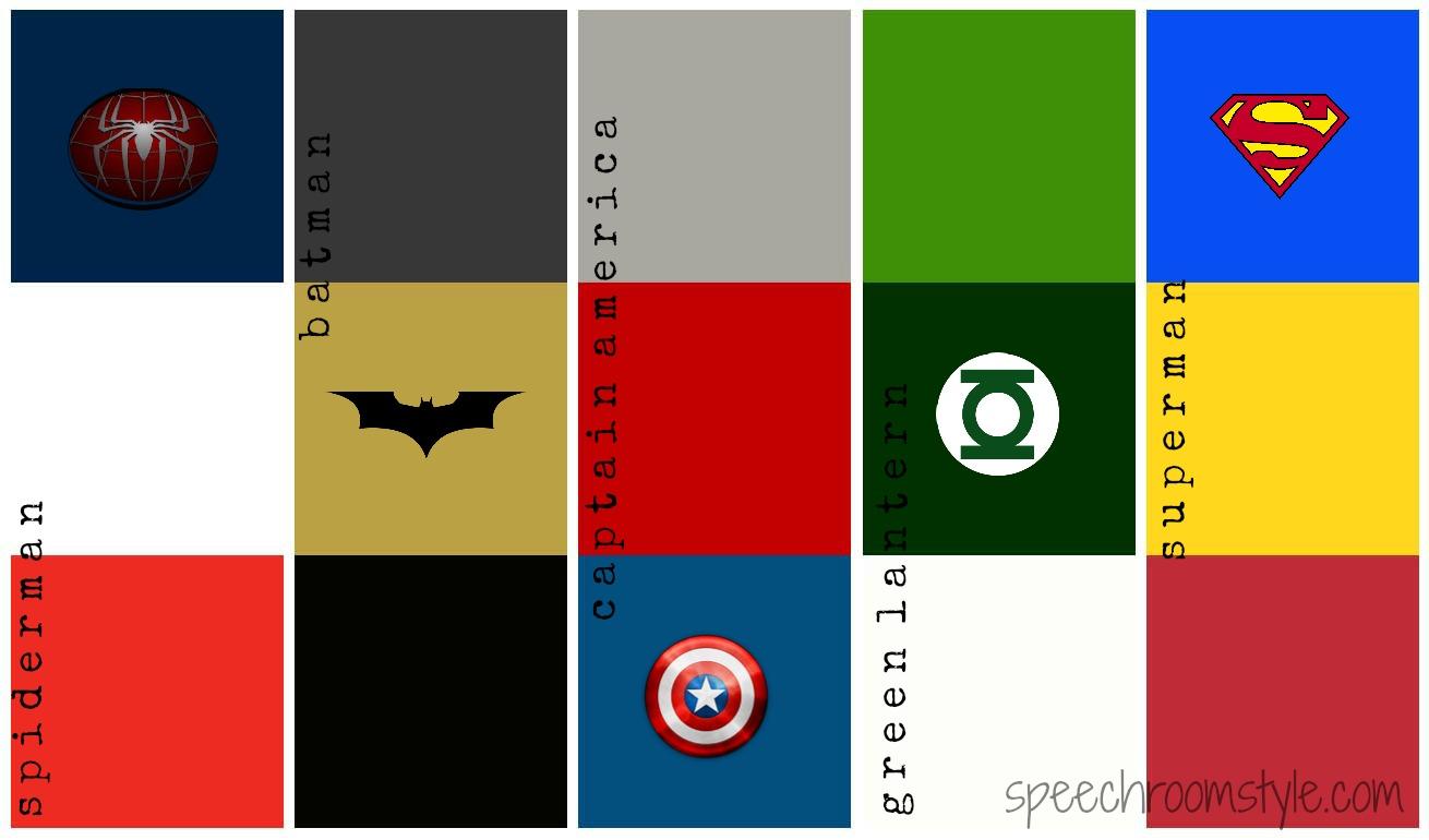 Get Into The Superhero Theme Speech Room Style