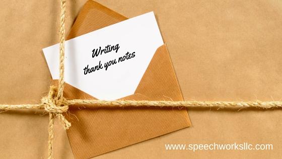 Writing  sending thank you notes Speech Therapy Blog Oconomowoc