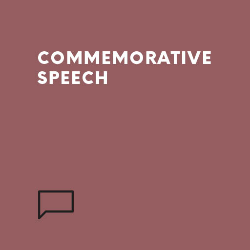 Commemorative Speech Speechwriters