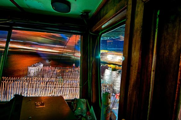 Long Exposure Shot From The Towboat Pilot House While Delivering Concrete To Pier Four.