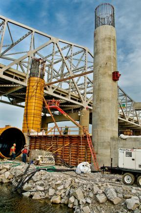 Carpenters and Concrete Forms on The Indiana Approach #2