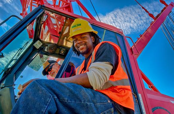 Portrait of a Crane Crew, Donny Cooper, Operator and Ray Mansfield, Oiler.
